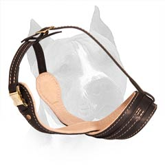 Secure Leather Muzzle with No Barking Design