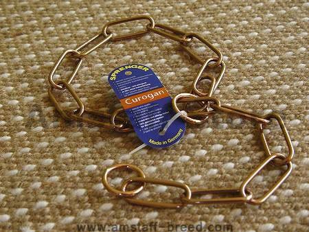 brass fur saver dog collar - herm sprenger chain dog collar