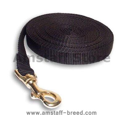 Tracking Nylon Long Line (long leash) for Amstaff